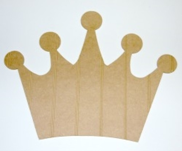 Wooden Crown Cutout Beadboard Shape Paint-able MDF DIY Craft