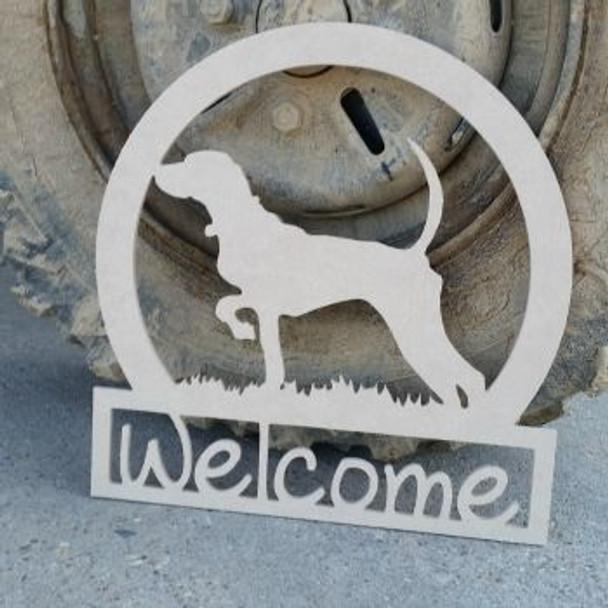 Bird Dog Sportman Welcome Sign, Beadboard Unfinished DIY Craft
