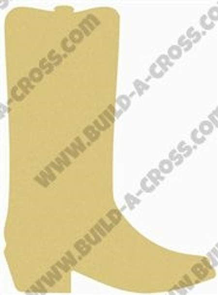 Boot Unfinished Cutout, Wooden Shape, Paintable Wooden MDF DIY Craft