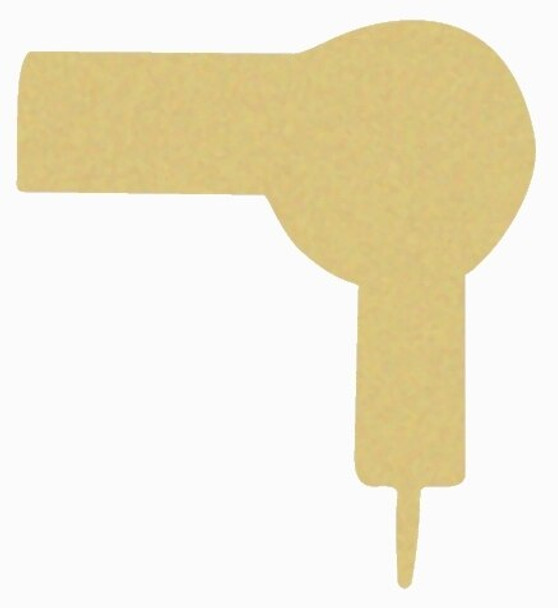 Blow Dryer Unfinished Cutout Paintable MDF Craft