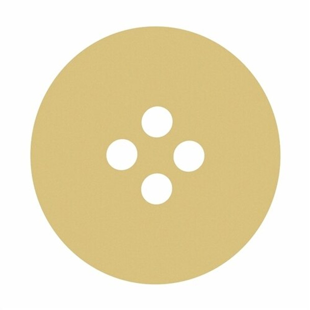 Button Unfinished Cutout Paintable Wooden MDF DIY Craft