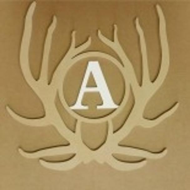 Antler Monogram Elk Insert Unfinished DIY Craft