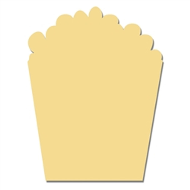 Movie Popcorn Unfinished Cutout, Wooden Shape, MDF Craft