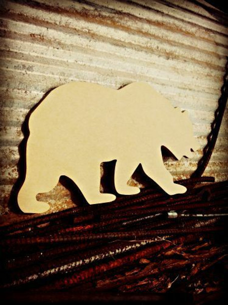 Grizzly Bear Unfinished Cutout MDF DIY Craft