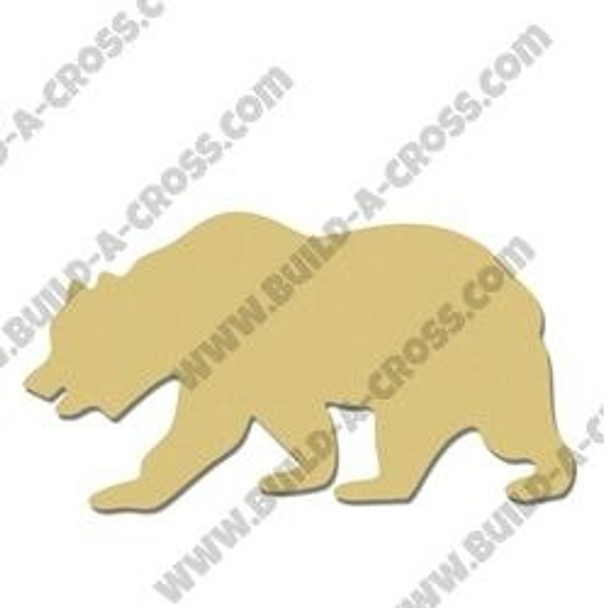 Grizzly Bear Unfinished Cutout MDF DIY Craft build-a-cross