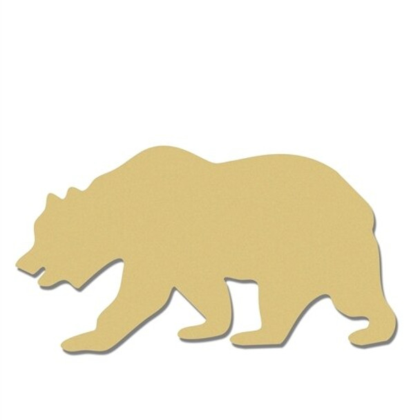 Grizzly Bear Unfinished Cutout MDF Craft