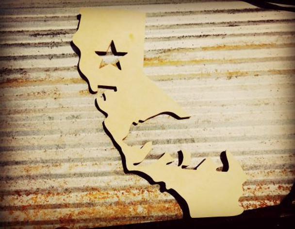 California Montage Unfinished Cutout, Wooden Shape, MDF DIY Craft