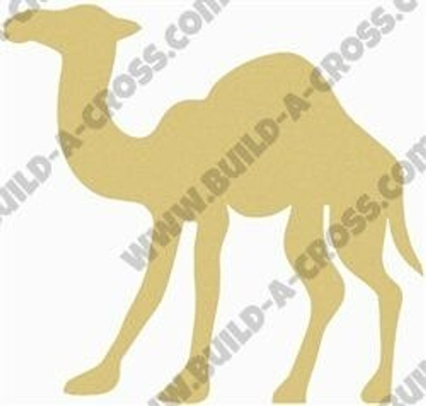 Camel Unfinished Cutout Paintable Wooden MDF Craft build-a-cross