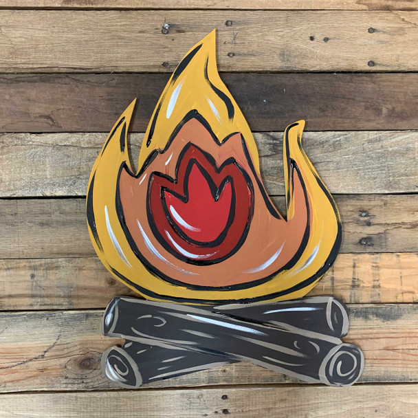 Camp Fire Unfinished Cutout Paintable Wooden MDF