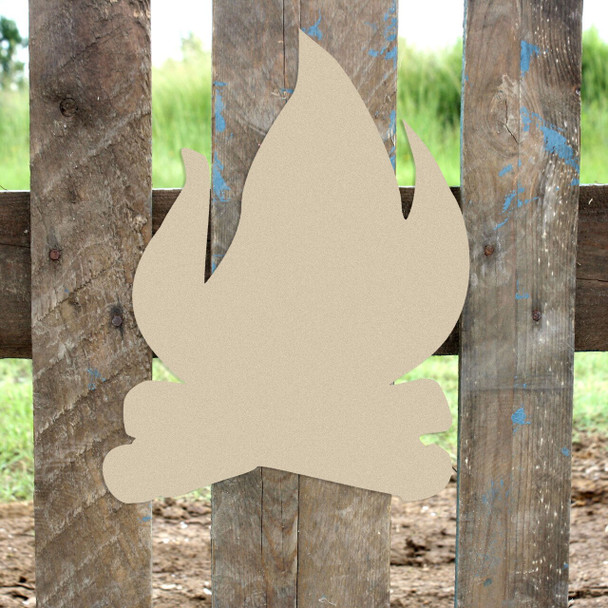Camp Fire Unfinished Cutout