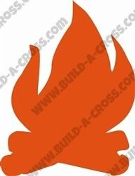 Camp Fire Unfinished Cutout Paintable Wooden MDF build-a-cross
