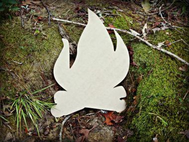 Camp Fire Paintable Wooden MDF