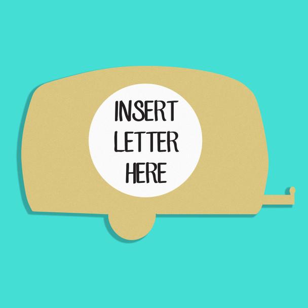 Camper Frame Letter Insert Wooden Monogram Unfinished DIY Craft