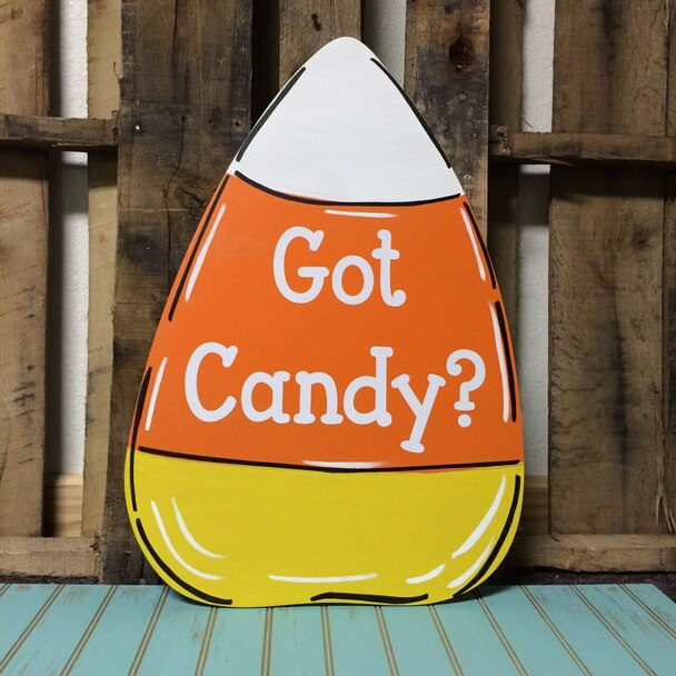 Candy Corn Unfinished Cutout-Got Candy