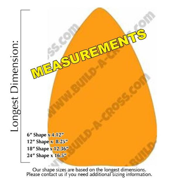 Candy Corn Unfinished Cutout-Got Candy measurements