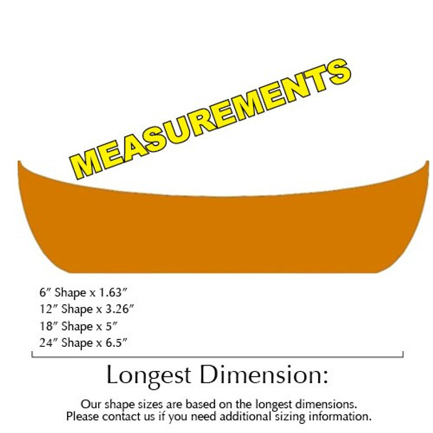 Canoe Unfinished Cutout Paintable Wooden MDF Craft MEASUREMENTS