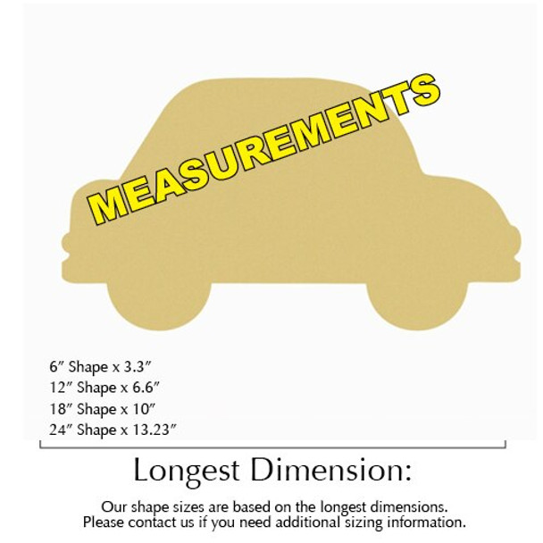 Car Unfinished Cutout measurements