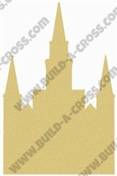Castle Unfinished Cutout, Wooden Shape, Paintable Wooden MDF DIY Craft