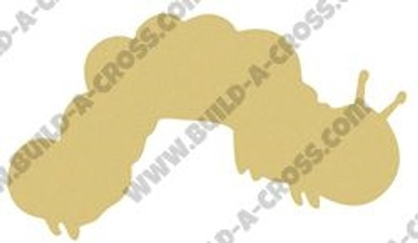 Caterpillar Unfinished Cutout, Wooden Shape,  Paintable MDF DIY Craft