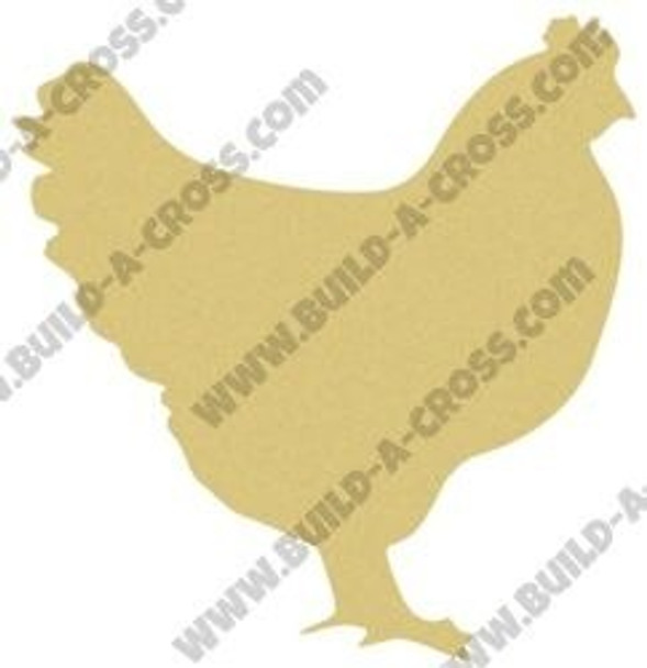 Chicken Unfinished Cutout Paintable MDF DIY Craft build-a-cross