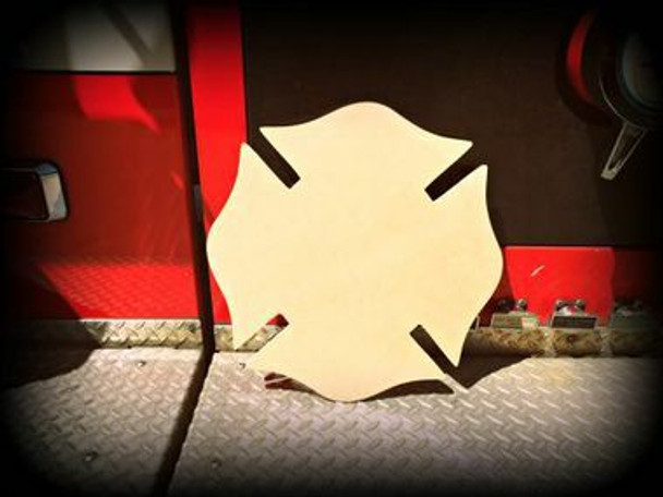 Chicago Fireman Cross Unfinished Cutout