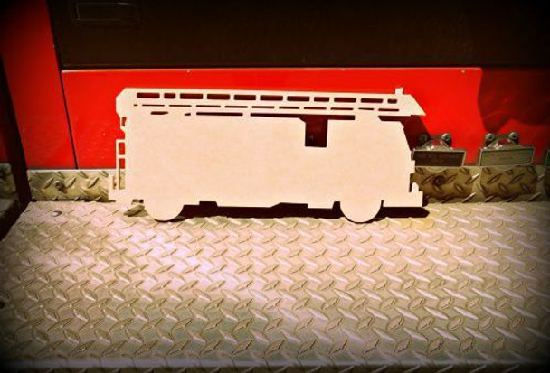 Fire Truck Unfinished Cutout
