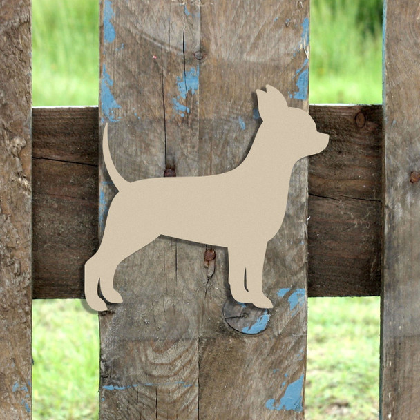 Chihuahua Unfinished Cutout, Wooden Shape,  Paintable MDF DIY