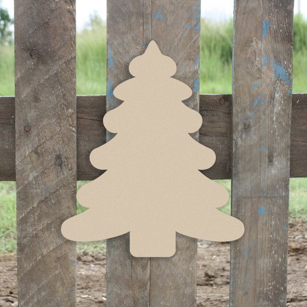 Wooden Christmas Tree Unfinished Cutout