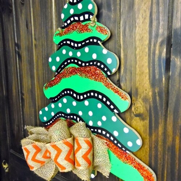 Wooden Christmas Tree Unfinished Cutout Paintable