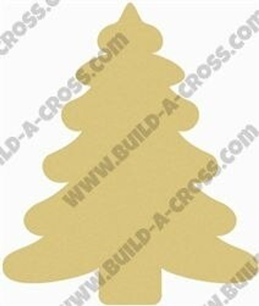 Wooden Christmas Tree Unfinished Cutout build-a-cross