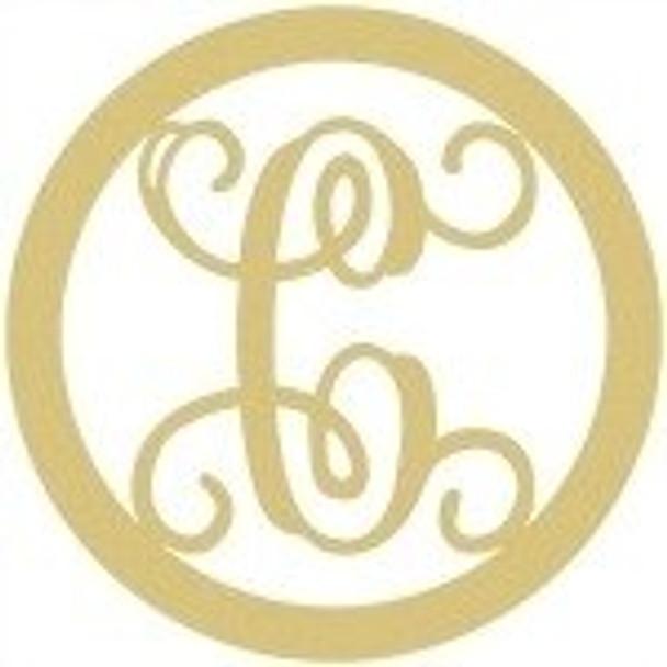 Circle Framed Monogram Letter-C