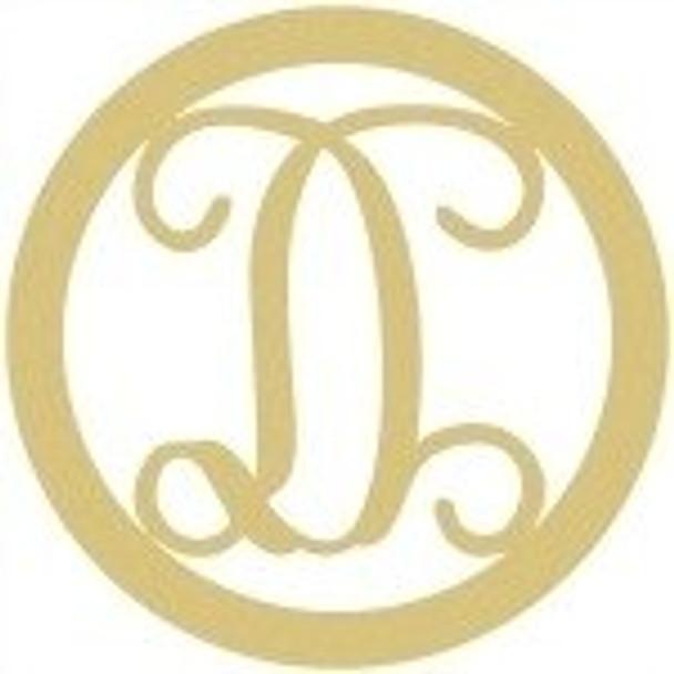 Circle Framed Monogram Letter-D