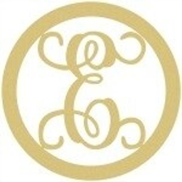 Circle Framed Monogram Letter-E