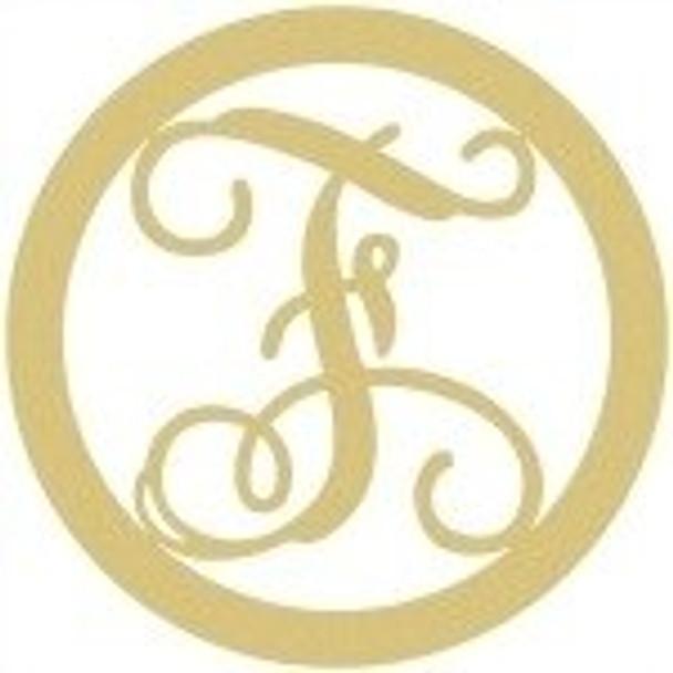 Circle Framed Monogram Letter-F