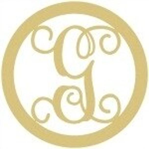 Circle Framed Monogram Letter-G