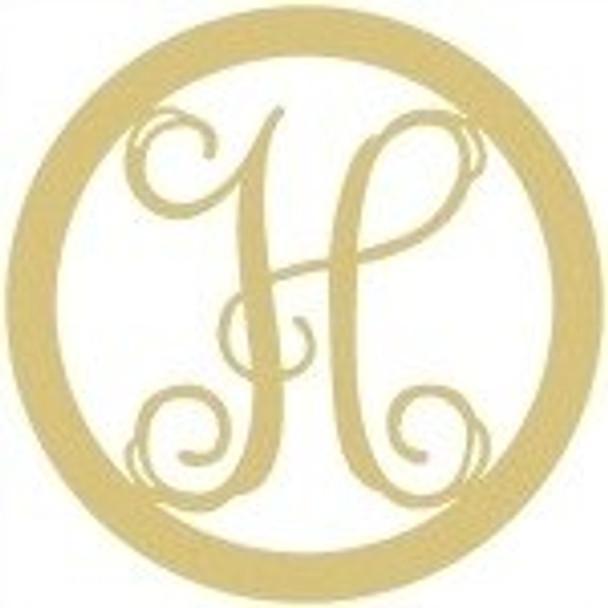 Circle Framed Monogram Letter-H