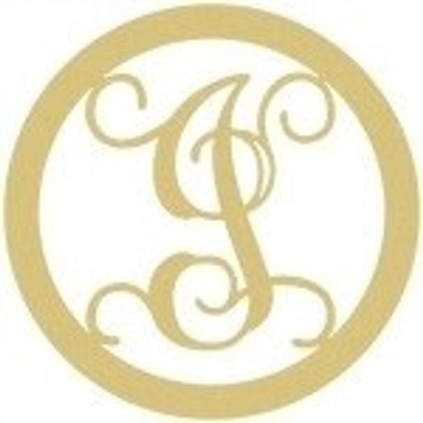 Circle Framed Monogram Letter-I