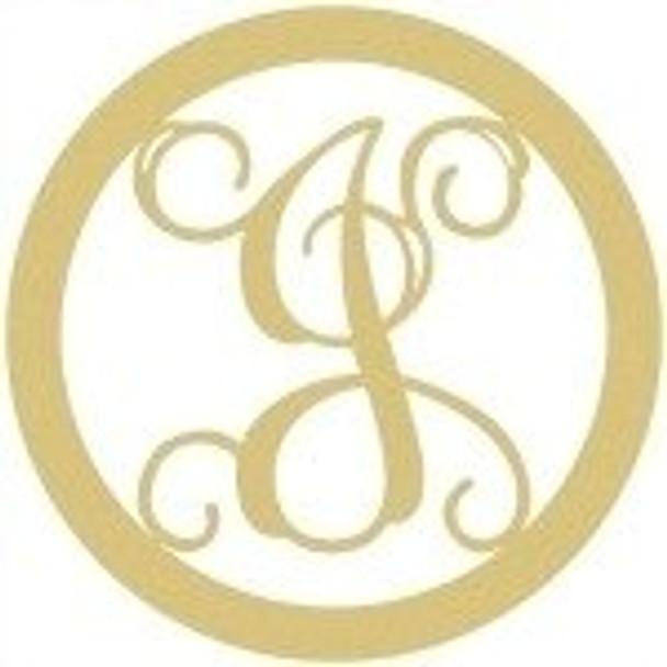 Circle Framed Monogram Letter-J