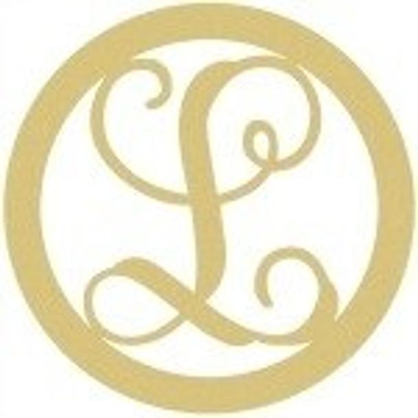 Circle Framed Monogram Letter-L