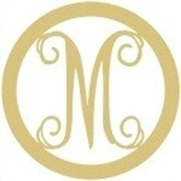 Circle Framed Monogram Letter-M