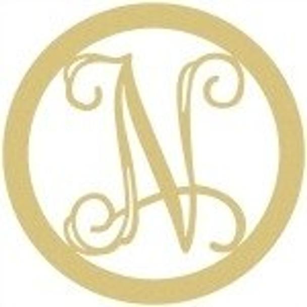 Circle Framed Monogram Letter-N