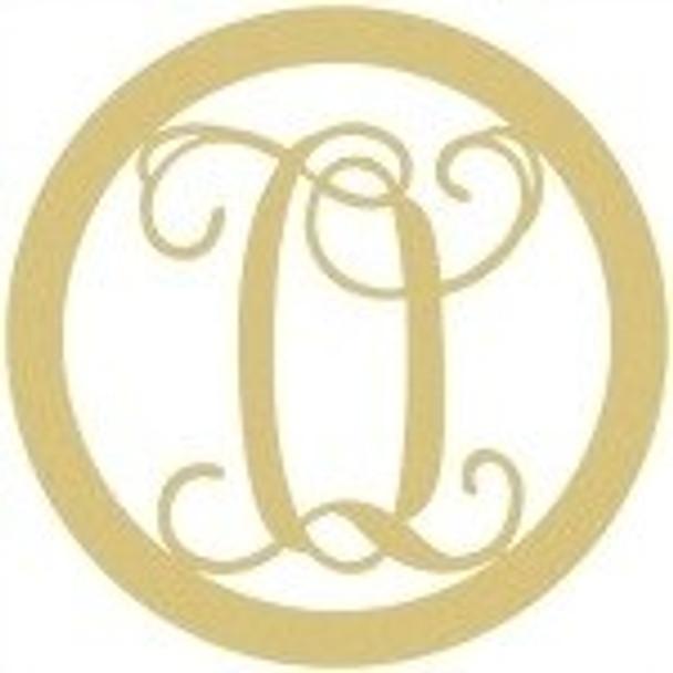 Circle Framed Monogram Letter-O
