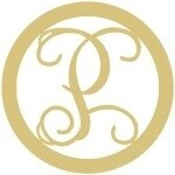Circle Framed Monogram Letter-P