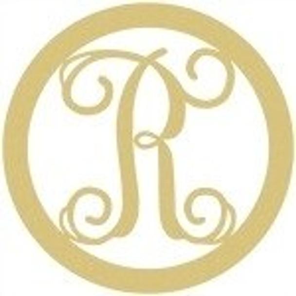 Circle Framed Monogram Letter-R
