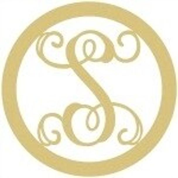 Circle Framed Monogram Letter-S