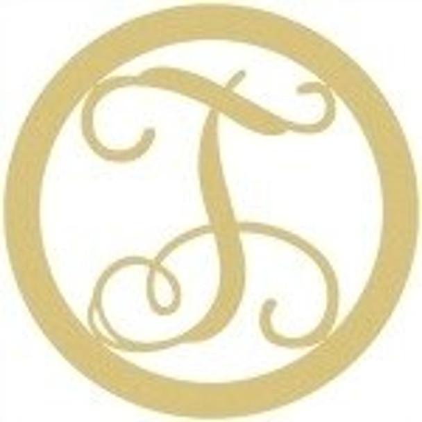 Circle Framed Monogram Letter-T