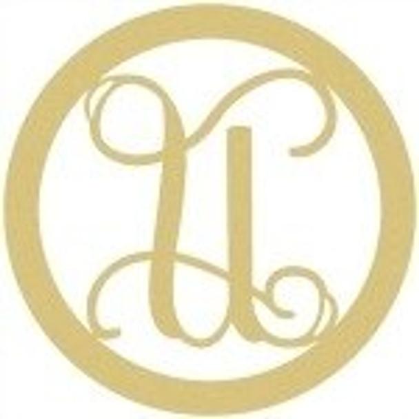 Circle Framed Monogram Letter-U