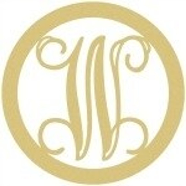 Circle Framed Monogram Letter-W