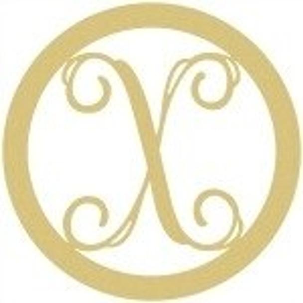 Circle Framed Monogram Letter-X