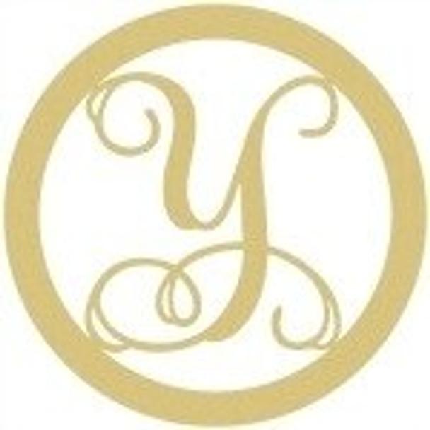Circle Framed Monogram Letter-Y